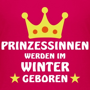 Prinzessinnen Winter T-Shirts - Kinder Premium T-Shirt