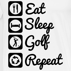 Eat,sleep,golf,repeat, Golf t-shirt  - Männer Premium T-Shirt