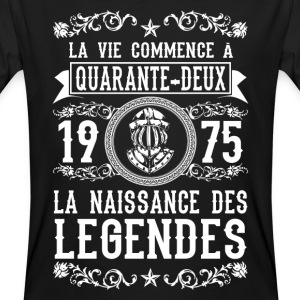 1975 - 42 ans - Légendes - 2017 Tee shirts - T-shirt bio Homme