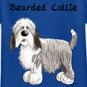 Happy Bearded Collie Shirts - Kids' T-Shirt