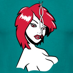 Kiffen joint girl sexy marihuana T-Shirts - Men's T-Shirt