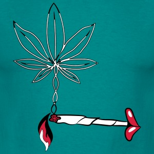 weed fille commune sexy design lèvres Tee shirts - T-shirt Homme