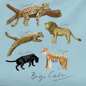 Big Cats - Kids' Backpack
