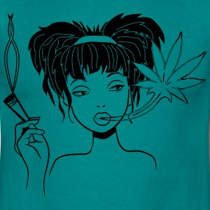 weed fille conjointe cannabis sexy Tee shirts - T-shirt Homme