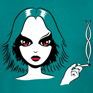 Kiffen joint girl marihuana stoned T-Shirts - Men's T-Shirt
