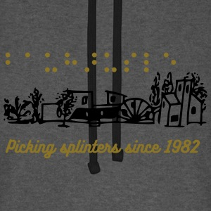 Bauhäusle Picking Splinters - Unisex Baseball Hoodie