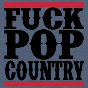 "Shirt ""F*ck Pop Country"" - Männer Premium T-Shirt"