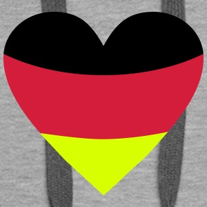 Germany Heart Hoodies & Sweatshirts - Women's Premium Hoodie