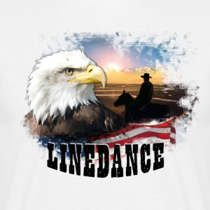 kl_linedance25 T-Shirts - Herre-T-shirt
