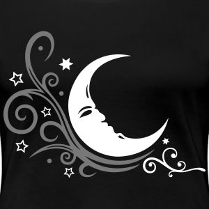 Mond mit Tribal und Sternen, moon and stars T-Shirts - Women's Premium T-Shirt
