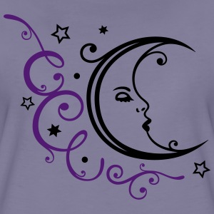Filigraner Mond mit Sternen, moon with stars T-Shirts - Women's Premium T-Shirt