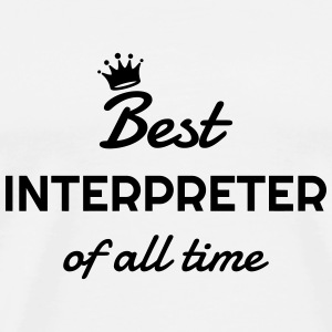 Interpreter Dolmetscher Translation Interprète T-Shirts - Men's Premium T-Shirt