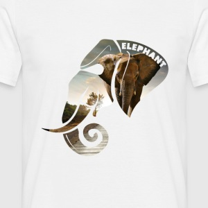 Elephant Safari Scene Head T-Shirts - Men's T-Shirt