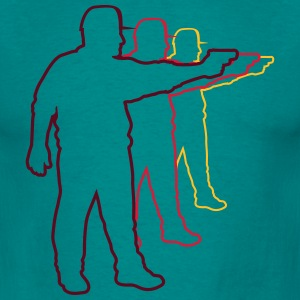 Shooting pistol targets shooting design T-Shirts - Men's T-Shirt
