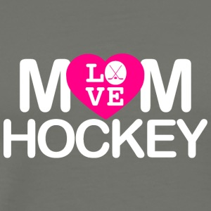 Mom love hockey - Männer Premium T-Shirt
