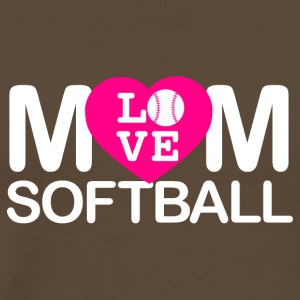 Mom love softball - Männer Premium T-Shirt