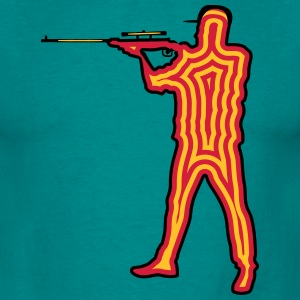 Shooting gun shooting T-Shirts - Men's T-Shirt