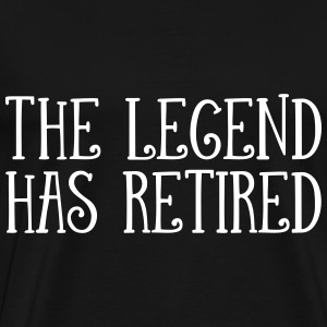 The Legend Has Retired T-skjorter - Premium T-skjorte for menn
