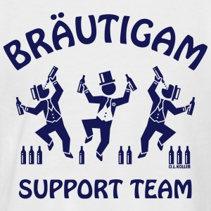 Bräutigam Support Team / Biertrinker (JGA) Shirt - Männer Baseball-T-Shirt