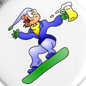 Snowboarding with a beer Buttons - Buttons large 56 mm