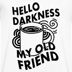HELLO DARKNESS MY OLD FRIEND (KAFFEE) Koszulki - Koszulka męska Canvas z dekoltem w serek