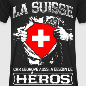 La Suisse - Héros - Europe T-Shirts - Men's V-Neck T-Shirt