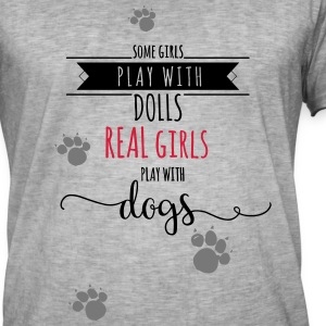REAL GIRLS T-Shirts - Männer Vintage T-Shirt