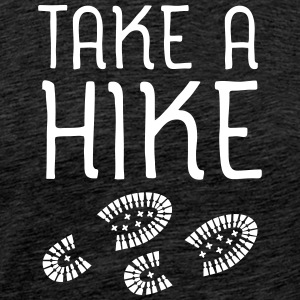 Take A Hike T-shirts - Herre premium T-shirt
