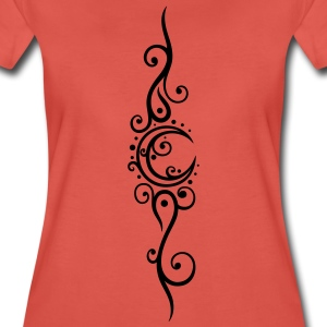 Filigraner Mond mit Tribal, moon Tattoo T-Shirts - Women's Premium T-Shirt