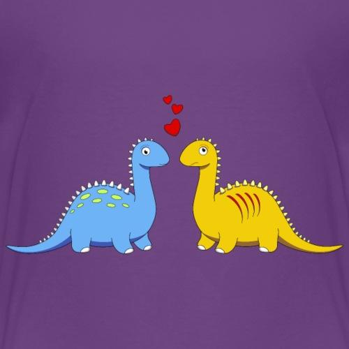 verliebt Dinosaurier Love Herz Brontosaurus Urzeit