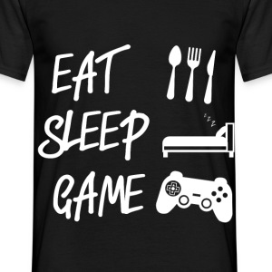 Eat Sleep Game - Männer T-Shirt