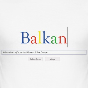 Balkan Google T-Shirts - Männer Slim Fit T-Shirt