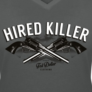 Hired Killer - T-shirt col V Femme