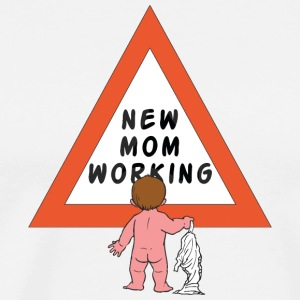 New Mom Changing Diapers - Men's Premium T-Shirt