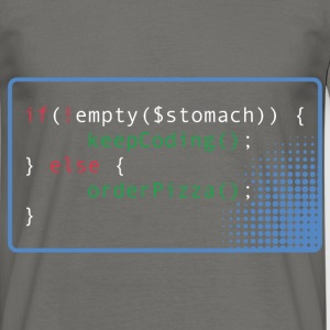 if(!empty($stomach)) keepCoding(); Programmierer - Männer T-Shirt