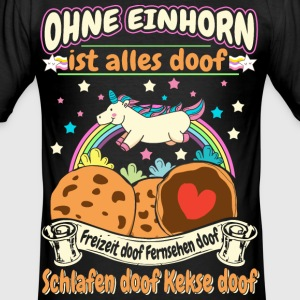Allt suger utan Unicorn T-shirts - Slim Fit T-shirt herr