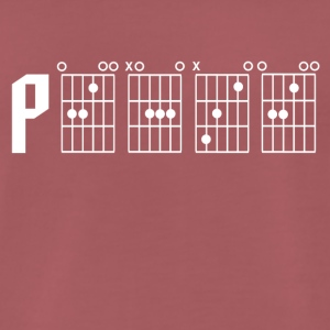 Peace through the power of a guitar chord - Men's Premium T-Shirt