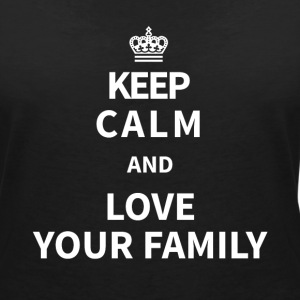 family T-Shirts - Women's V-Neck T-Shirt