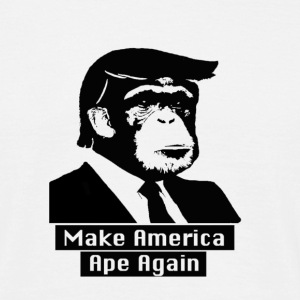 White Make America Ape Again T-Shirts - Men's T-Shirt