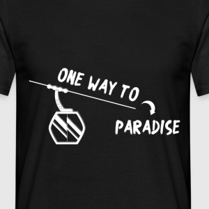 One way to paradise Skifahrer - Männer T-Shirt