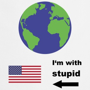 Earth - I'm with stupid usa Fartuchy - Fartuch kuchenny