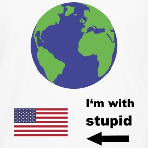 Earth - I'm with stupid usa Langarmshirts - Männer Premium Langarmshirt