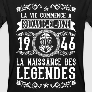 1946 - 71 ans - Légendes - 2017 Tee shirts - T-shirt bio Homme