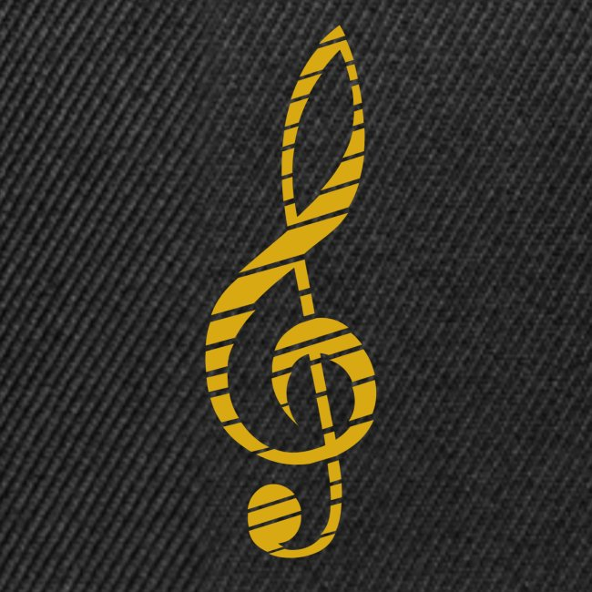 Golden Music Key Snapback Cap Bla