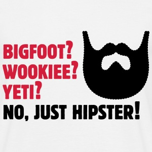 Bigfoot? Wookiee? Yeti? No, Just Hipster! Vollbart T-Shirts - Männer T-Shirt