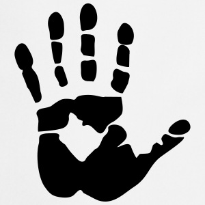 Handprint, high five Delantales - Delantal de cocina