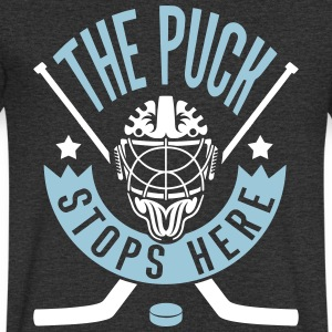 The Puck Stops Here (Ice Hockey) T-Shirts - Men's V-Neck T-Shirt