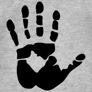 Handprint, high five Camisetas - Camiseta vintage hombre