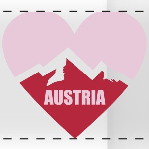Austria Heart with Alps Mugs & Drinkware - Panoramic Mug