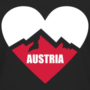 Austria Heart with Alps Long sleeve shirts - Men's Premium Longsleeve Shirt
